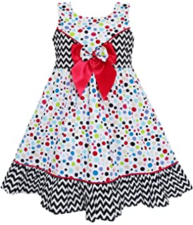 Sunny Fashion Vestido para niña Corbata de moño Impresión del ...