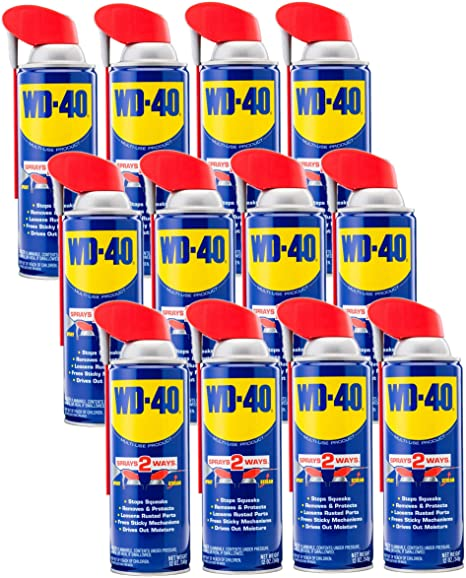 WD-40 - 490057CT Multi-Use Product with SMART STRAW SPRAYS 2 WAYS, 12 OZ (12-PACK): Amazon.com: Industrial & Scientific