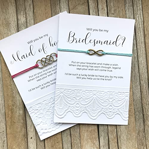 Will You Be My Bridesmaid Gifts Bridesmaid Proposal Bracelets On