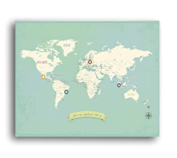 Amazon my travels personalized world map 24x18 wall art print my travels personalized world map 24x18 wall art print childrens wall art map kids gumiabroncs Image collections