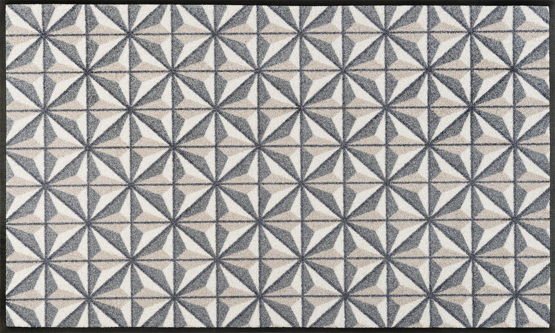 Wash+dry Kubus Fußmatte, Acryl, beige, 75 x 120 x 0.7 cm