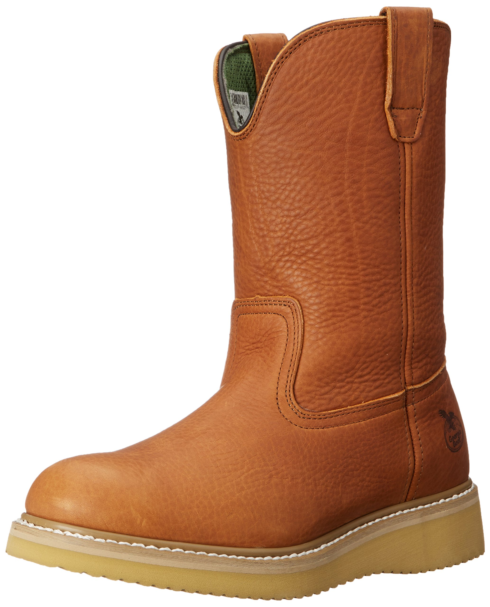 Georgia Boot Men's 12'' Wedge Wellington Work Boot,Barracuda Gold,8.5 W