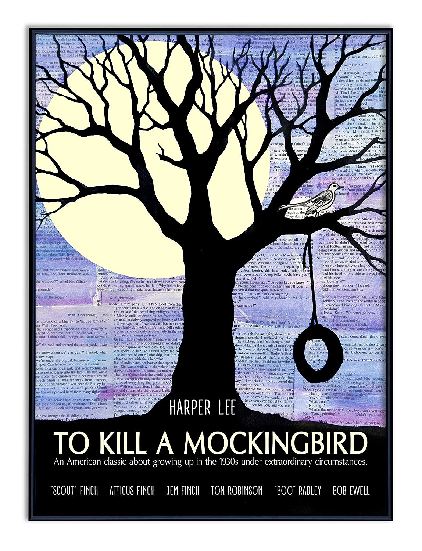 8x10 Color Photo To Kill a Mockingbird Book Cover