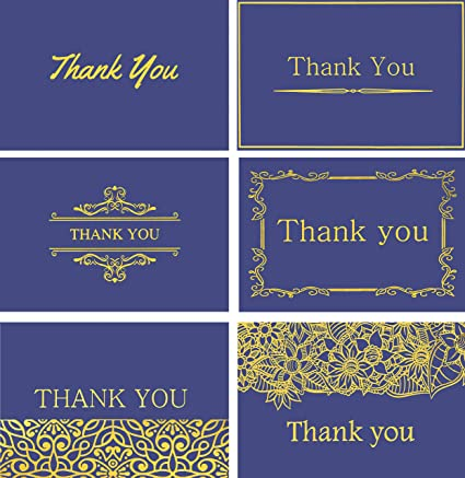 Amazon Com 120 Highest Quality Elegant Thank You Cards In Royal