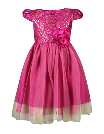 46c362af6 Bonnie Jean Little Girls 2T-4T Sequin Lace Dress - Pink Party Dress (2T