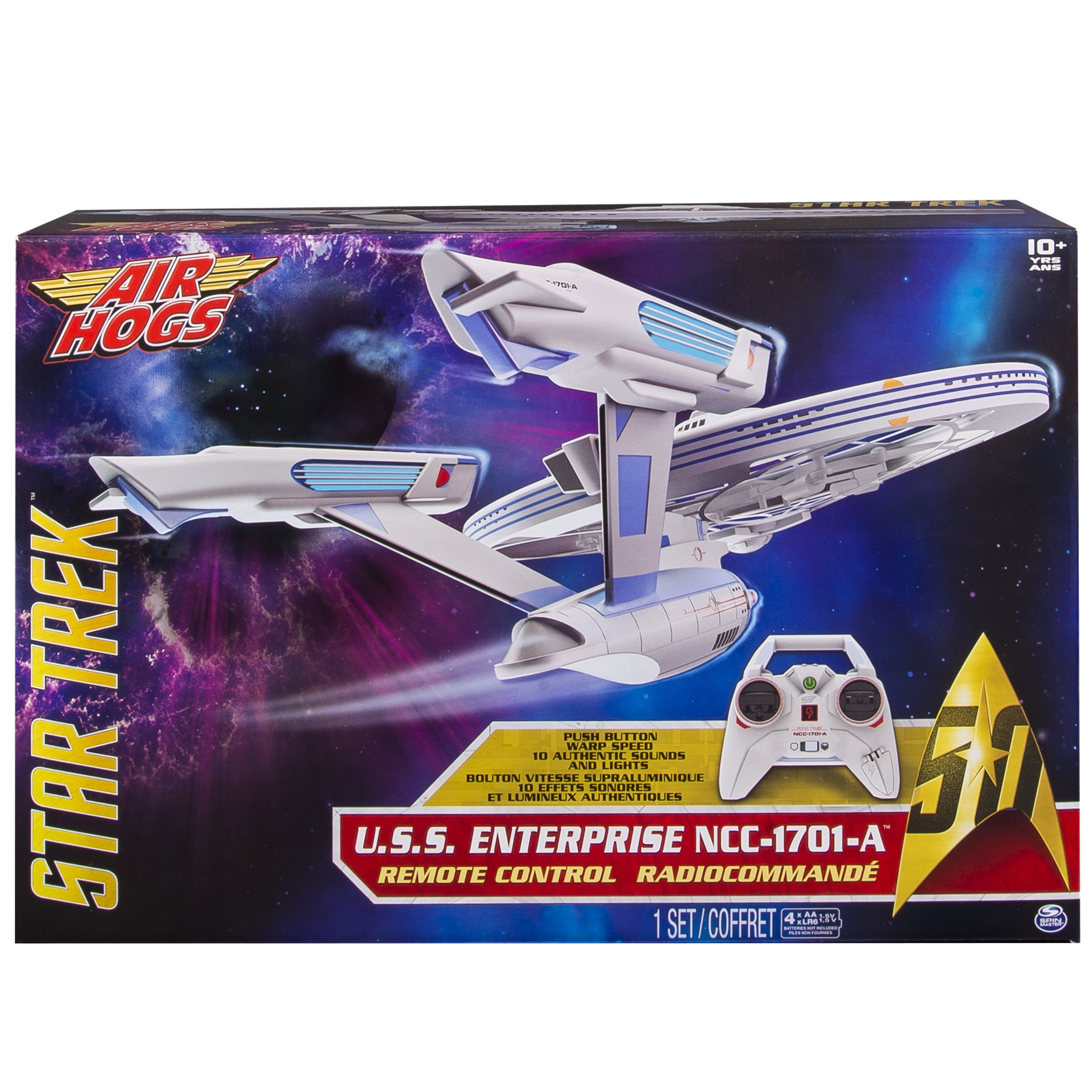 Air Hogs, Star Trek U.S.S Enterprise NCC-1701-A, Remote Control Drone with Lights and Sounds, 2.4 GHZ, 4 Channel by Air Hogs (Image #2)