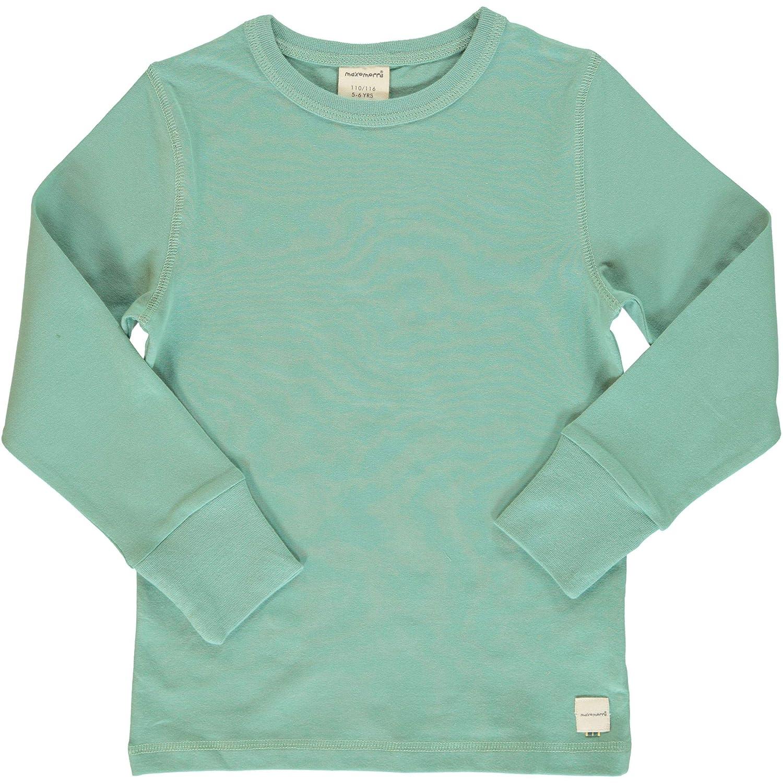Pullover a Maniche Lunghe per Bambini Colore: Turchese in Cotone Biologico Maxomorra