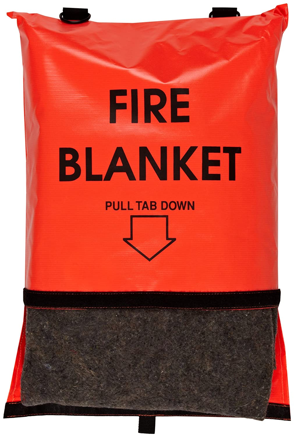Think Safe 911-83700 Bright Orange Fire Blanket and Bag with Velcro Closure, 84' L X 62' W