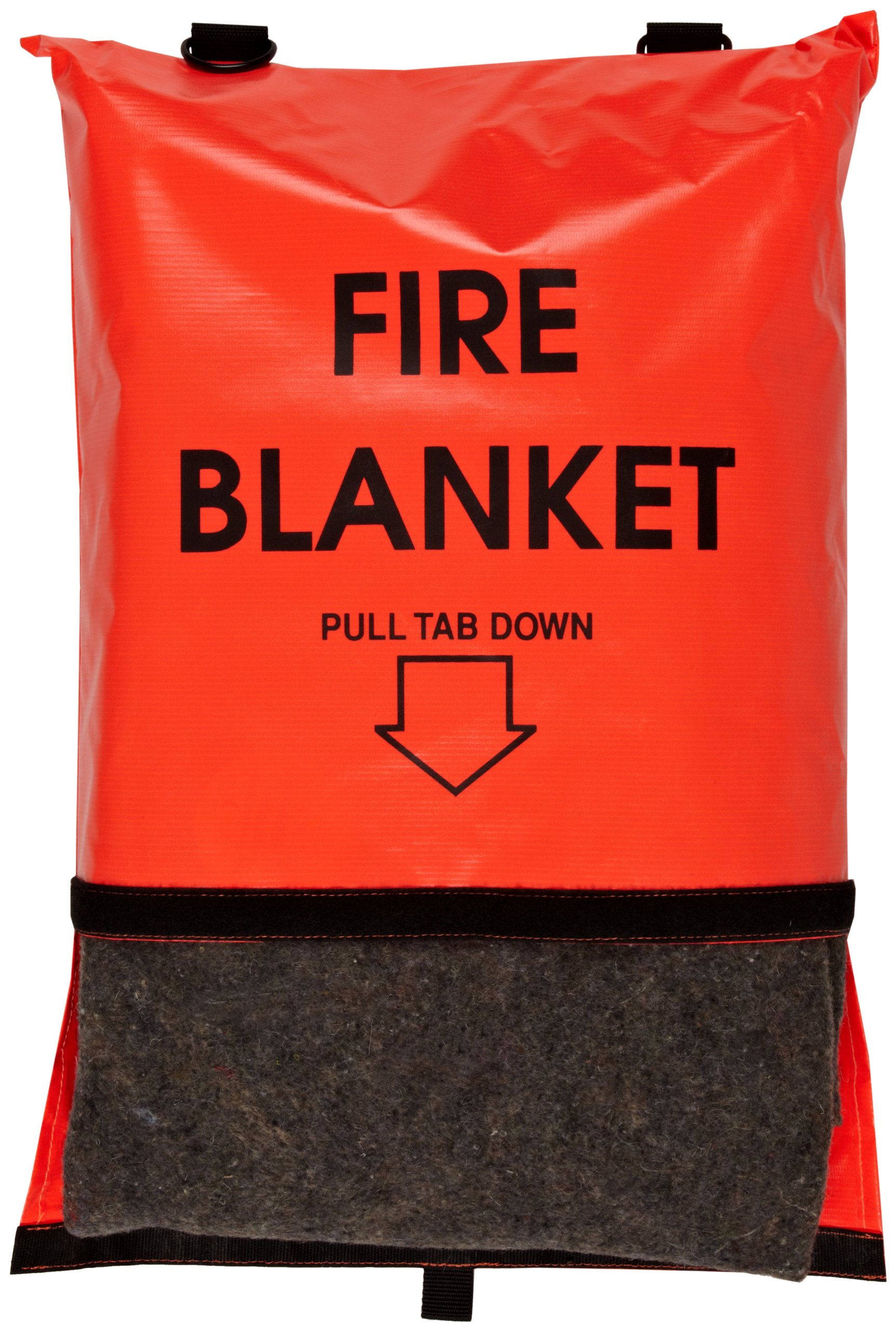 Think Safe 911-83700 Bright Orange Fire Blanket and Bag with Velcro Closure, 84'' L X 62'' W