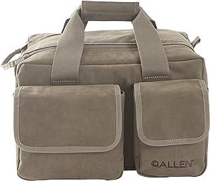 Allen Select Canvas Range Bag with 2 Pistol Rugs
