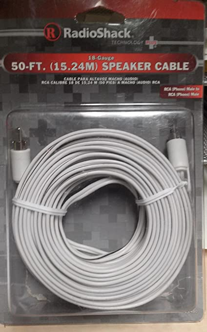 Amazon.com: RadioShack 8-Foot 8-Gauge Speaker Cable With An RCA