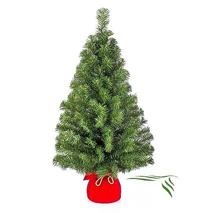 Albero Di Natale 50 Cm.Mini Albero Di Natale Varsavia Verde Rosso 90 Cm O 50 Cm