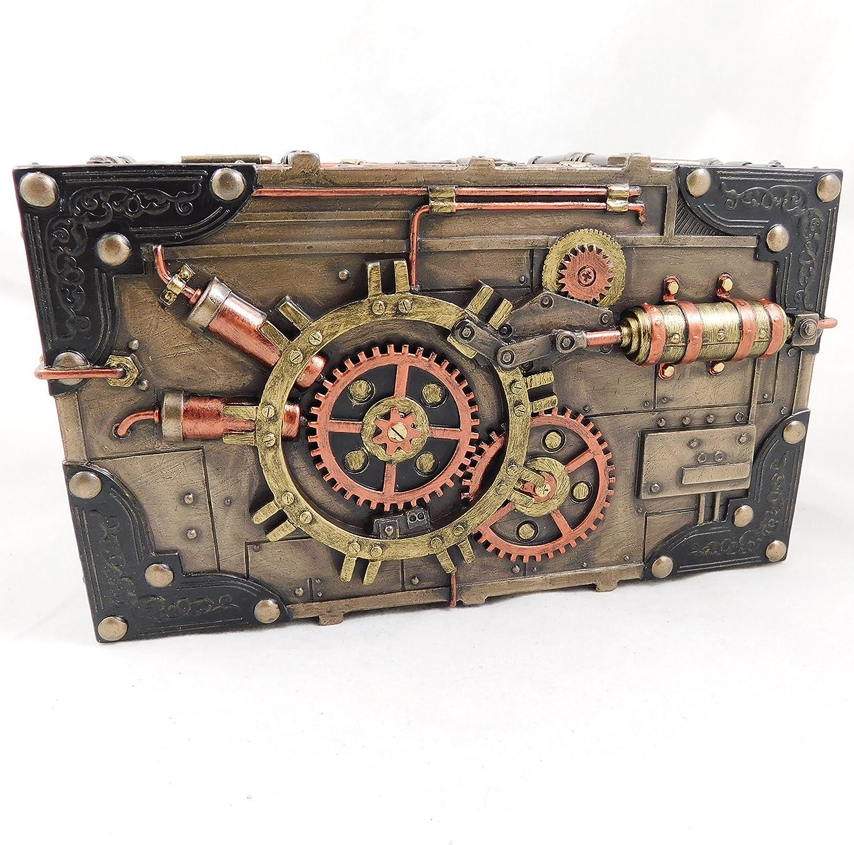 3765 L/énigme Vault Steampunk Coffre gothique Bo/îte /à bijoux Ornement