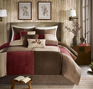 Amazon Com Madison Park Jackson Blocks Queen Size Bed Comforter Set