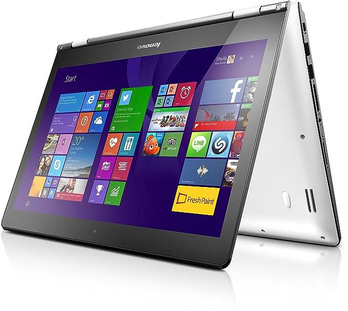 Lenovo Yoga 500 14 - Ordenador portátil (Híbrido (2-en-1), Touchpad, Windows 8.1 , Polímero de litio, 64-bit, Negro, Color blanco, teclado alemán ...