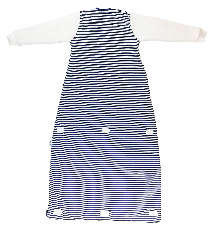 Slumbersac - Saco de dormir con diseño de piratas para bebé (para invierno, de manga larga, 3.5 tog, tallas de 12 meses a 10 años) azul/blanco Talla:110 cm: ...