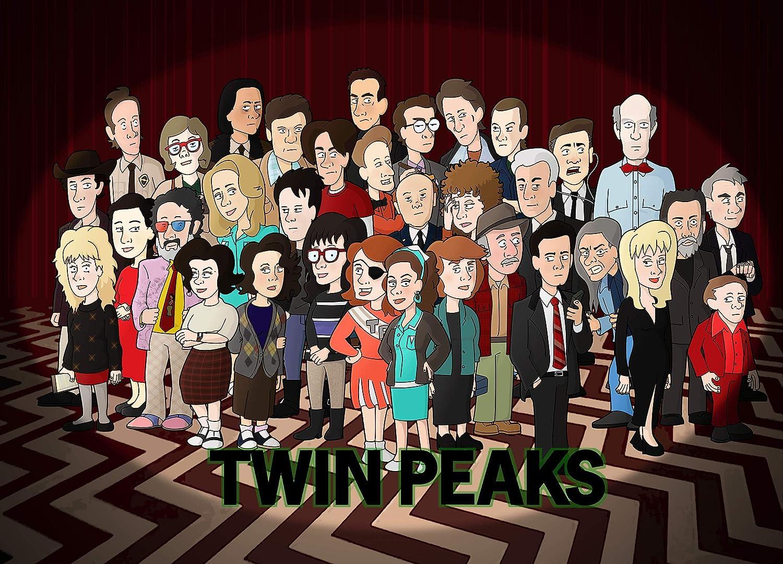 Twin Peaks Comics Poster, Twin Peaks Print, Tv Series Art, Twin Peaks Gifts, Twin Peaks Fan Artwork, Twin Peaks Art Poster, Twin Peaks Decor