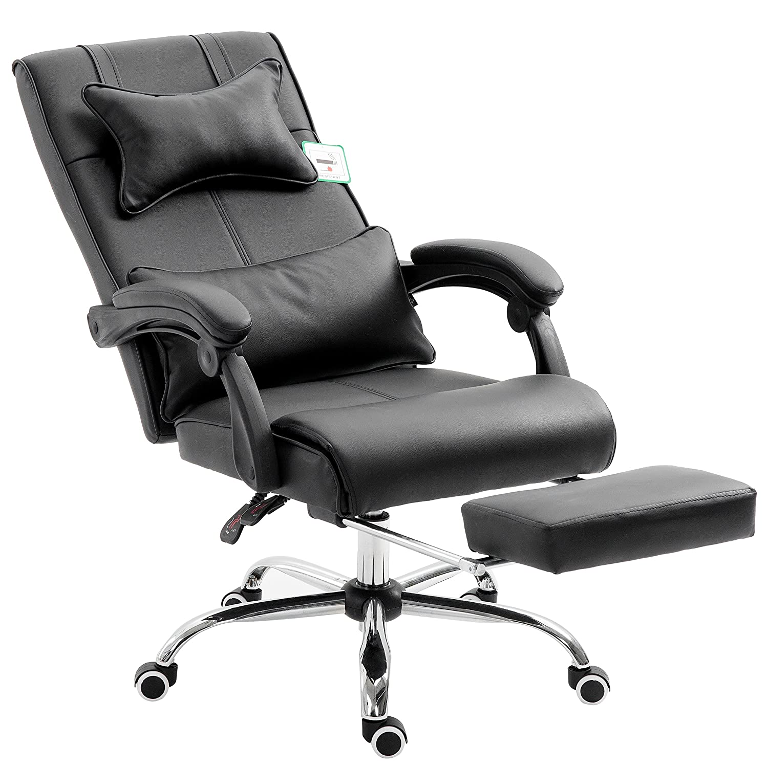 Style 2 Cherry Tree Furniture Extra Padded High Back Reclining Faux Leather Relaxing Swivel Executive Chair With Footrest