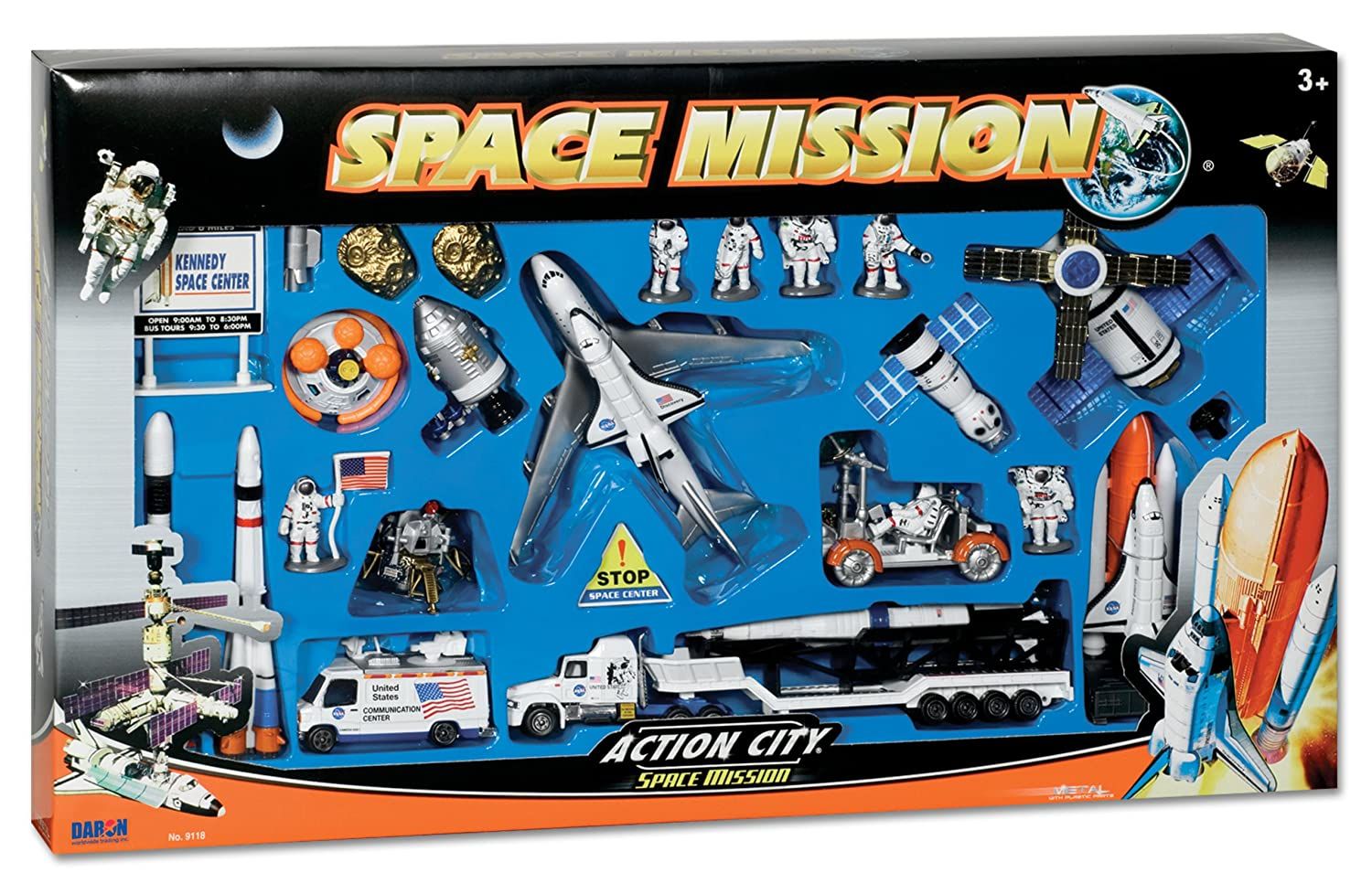 Space Shuttle with Kennedy Space Center Sign 28 Piece Daron Worldwide Trading inc RT 38148
