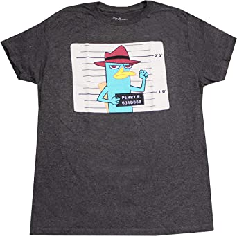 M L 2XL Phineas /& Ferb Mens Agent P Plat Trucker Hat Perry Shirt New S