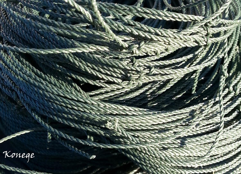 Teichnetz 20,0m x 15,0m, 10,0cm Maschenweite, geknotet, dunkelgrün