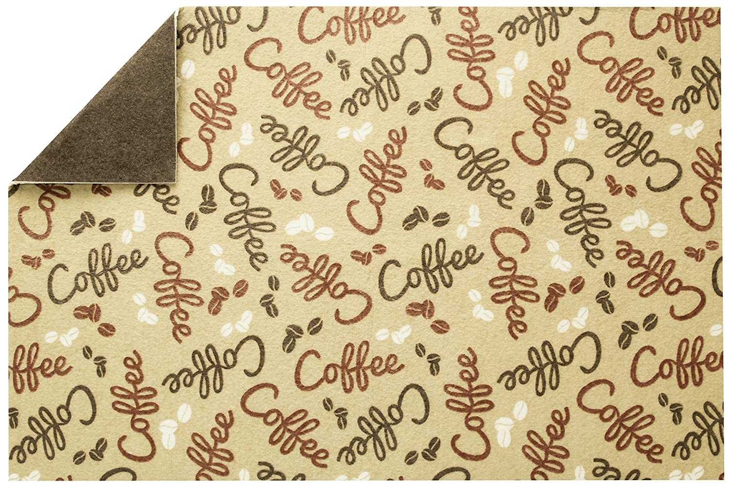 S&T 591601 Coffee & Java Maker Mat, 12 x 18, Bean Print 12 x 18 Schroeder & Tremayne Inc.