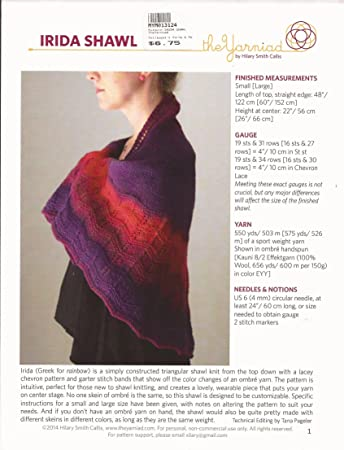 Amazon Irida Shawl The Yarnidad Knitting Pattern By Hillary