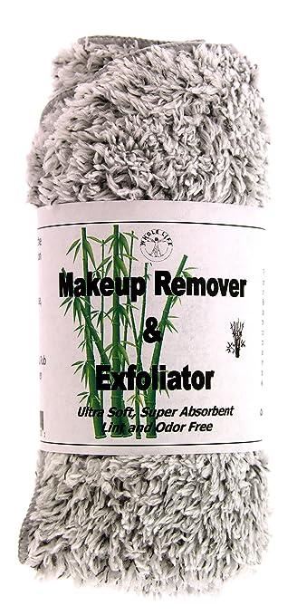 Amazon.com: Desmaquillante y Exfoliador - Toalla de Microfibra con Carbon de Bambu (1) Grande (1 Paquete): Beauty