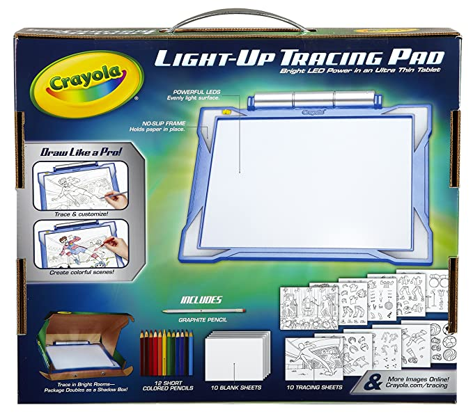 Amazon.com: Crayola Light-up Tracing Pad - Blue, Coloring Board for ...