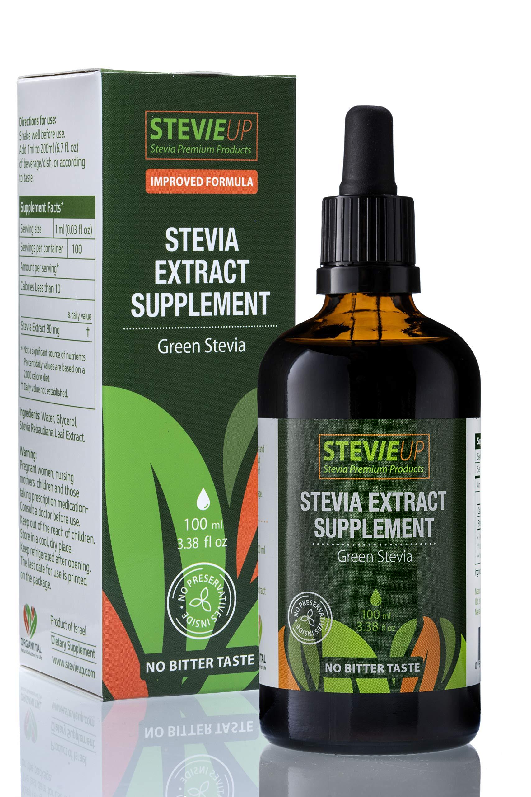 STEVIEUP Natural Stevia Extract, Natural Green Stevia, OrganiTal Liquid Stevia, All Natural Stevia