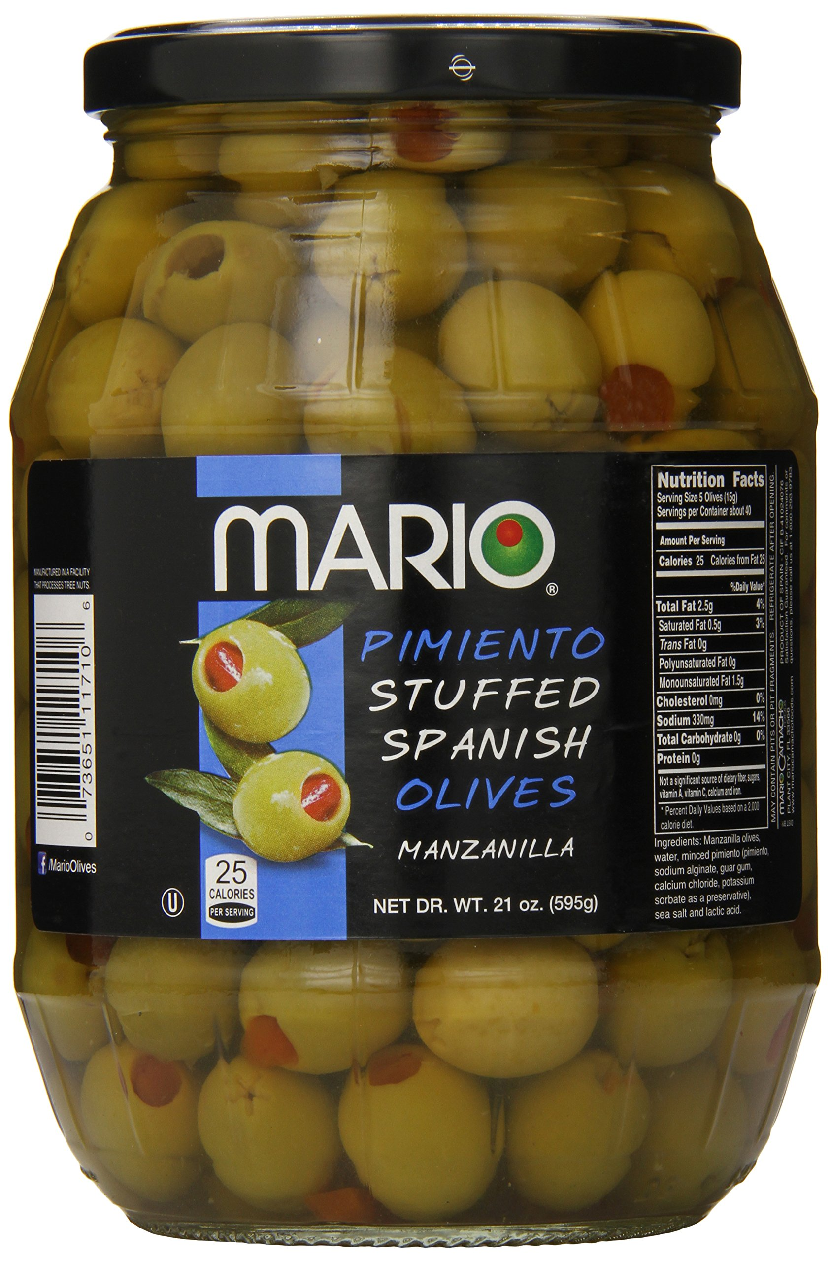 Mario Camacho Foods Manzanilla Spanish Olives, 21 Ounce (Pack of 6) by Mario Camacho