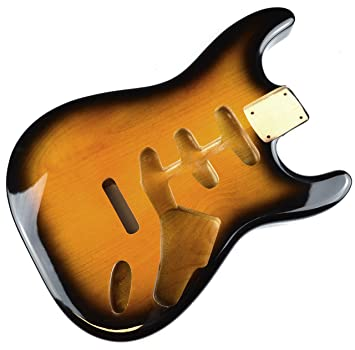 2 tono Sunburst de guitarra eléctrica Stratocaster cuerpo - 2 piezas American, madera de aliso: Amazon.es: Instrumentos musicales
