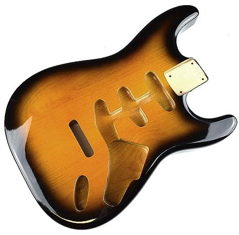 2 tono Sunburst de guitarra eléctrica Stratocaster cuerpo – 2 piezas American, madera de aliso