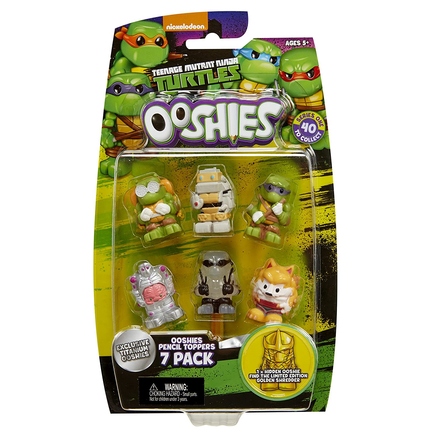 "Ooshies Set 4 ""TMNT Series 1"" Action Figure (7 Pack)"