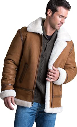 31d39d5ff5403 Image Unavailable. Image not available for. Color  Jason Sheepskin B-3  Bomber Jacket