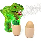 T-rex Bubble Gun Shooter – Light Up Bubble Blaster With Realistic Sounds by Big Mo's Toys (Green)
