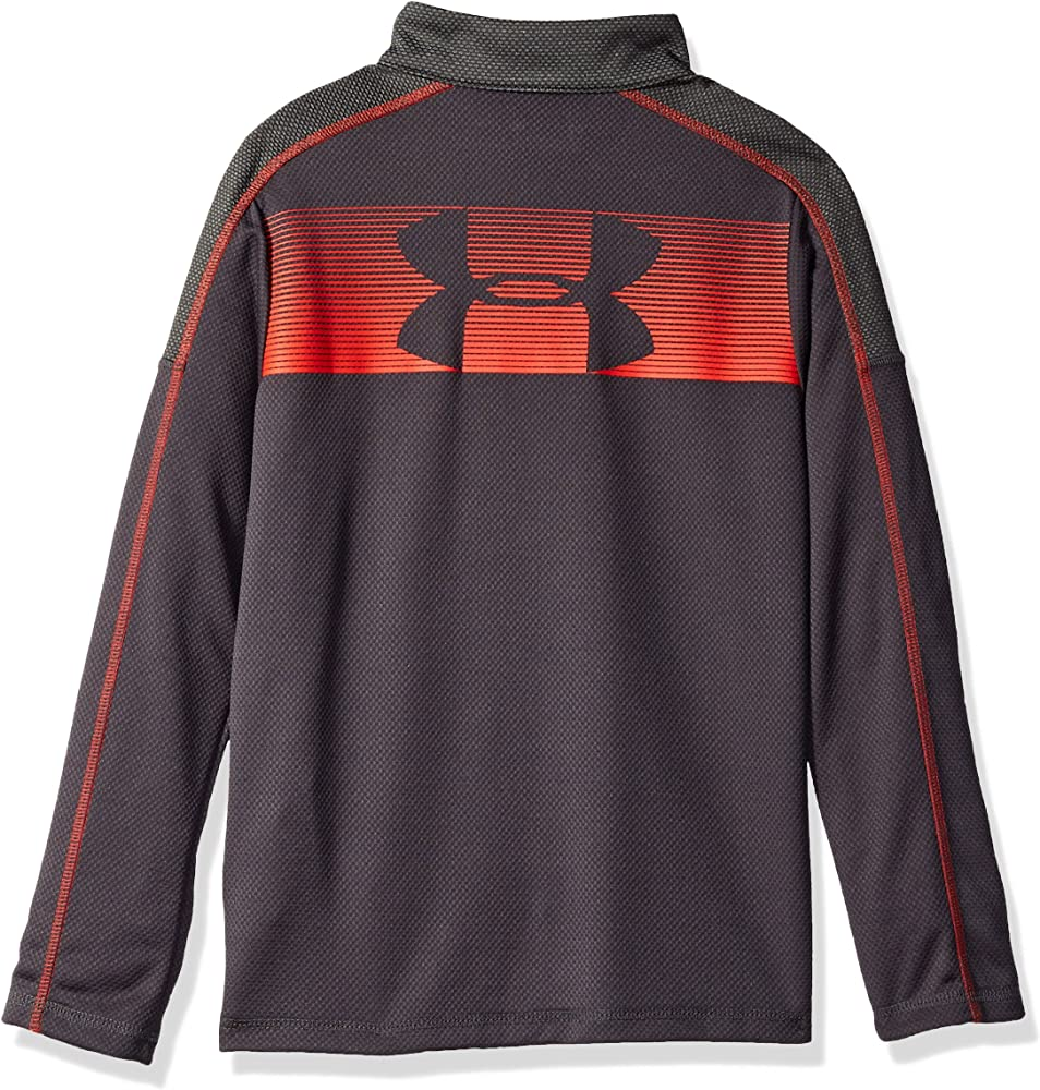 Size/'s Youth L,XL Under Armour Boys Tech 1//2 Zip Neck Long Sleeve Blue Top New