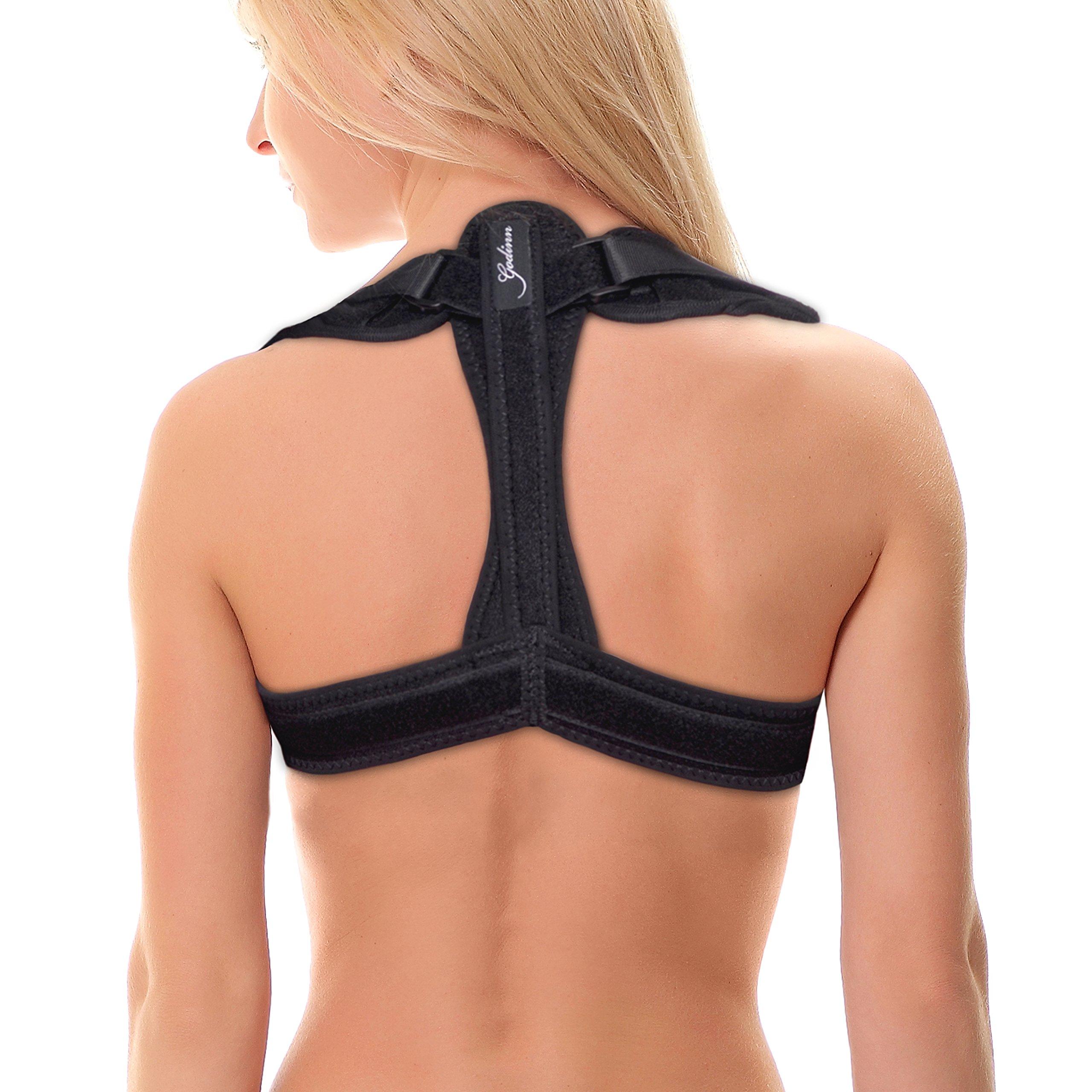Back Posture Corrector Brace Clavicle Support for Women Men – Kyphosis Scoliosis Back Brace – Adjustable Upper Back Straightener for Improving Posture