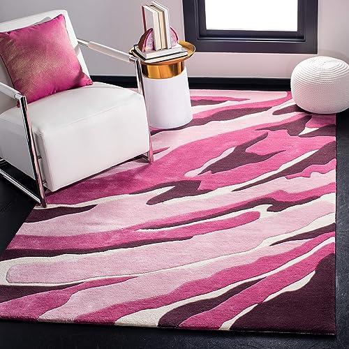 "Safavieh Soho Collection Handmade Pink and Rose Premium Wool Area Rug 7'6"" x 9'6"""