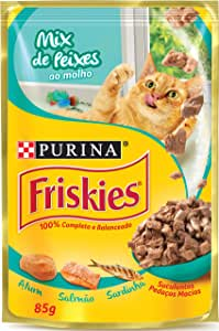 NESTLÉ PURINA FRISKIES Ração Úmida para Gatos Adultos Mix de Peixes 85g