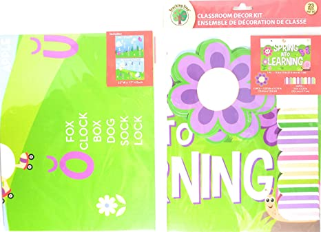 Amazon Com Classroom Decorations Kit Spring Into Learning Set