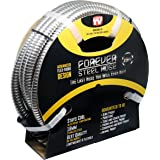 Forever Steel Hose 25' 304 Stainless Steel Garden Hose - As Seen On TV - Lightweight, Kink-Free, and Stronger Than Ever, Durable and Easy to Use