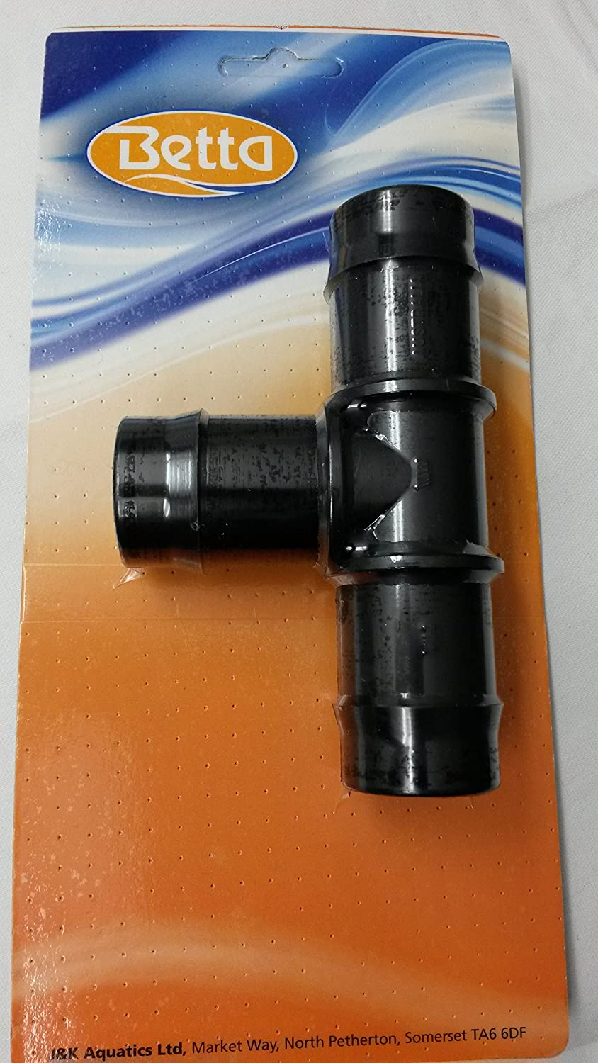25mm Hosetail 'T' Peice Connector For All Types Of Pond Hose Betta