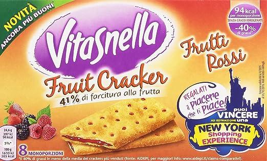 5 opinioni per VitaSnella- Crackers, con farcitura, Frutti Rossi- 4 confezioni da 8 pezzi da