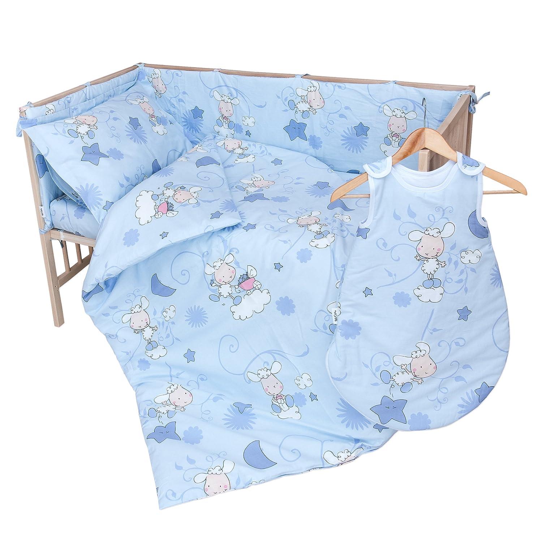 Les agneaux bleu Lot de 2 draps housse PatiChou pour lit b/éb/é 60x120 cm