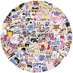 100Pcs Ouran High School Host Club Waterproof Vinyl Stickers Decals for Laptop Water Bottles Bike Skateboard Luggage Computer Hydro Flask Toy Phone Snowboard. DIY Gifts for Kids Girls Teens