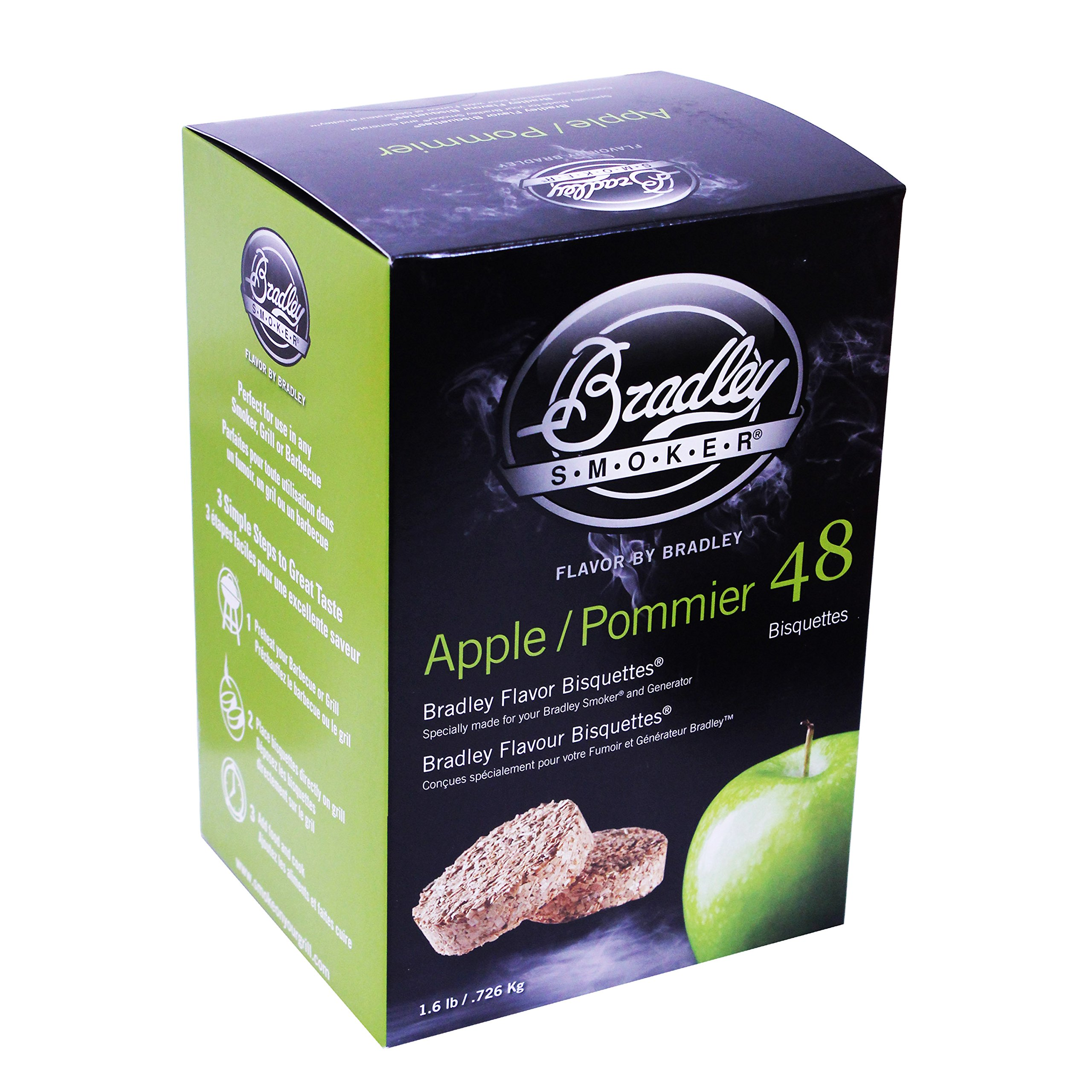 Bradley Technologies Smoker Bisquettes Apple (48 Pack)