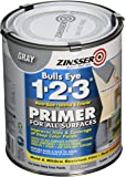 Rust-Oleum 286258 Zinsser Bulls Eye 1-2-3 Primer, 31.5 oz, Gray