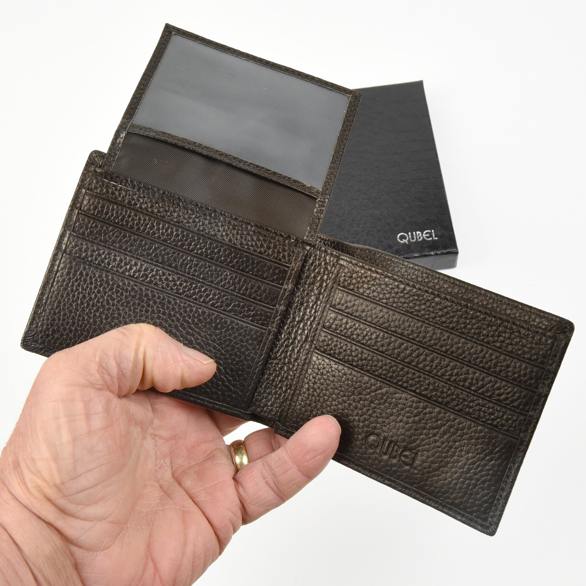 RFID Blocking Slim Bifold Genuine Leather Wallet for Men - Credit Card Protector by Qubel (Image #6)