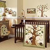 Lambs & Ivy Forest/Woodland 7 Piece Crib Bedding Set - Echo - Brown/Beige